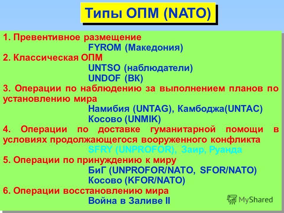 ООН Глава VIII Региональные соглашения Распределение обязанностей между ООН и региональными организациями СБ делегирует полномочия – мандат коалиции добровольцев (война в Заливе,IFOR/SFOR, …) Необходимость придания легитимности в соответствии с манда
