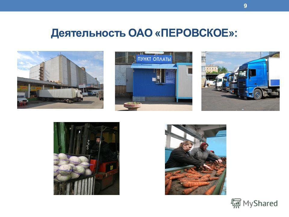 Деятельность ОАО «ПЕРОВСКОЕ»: 9