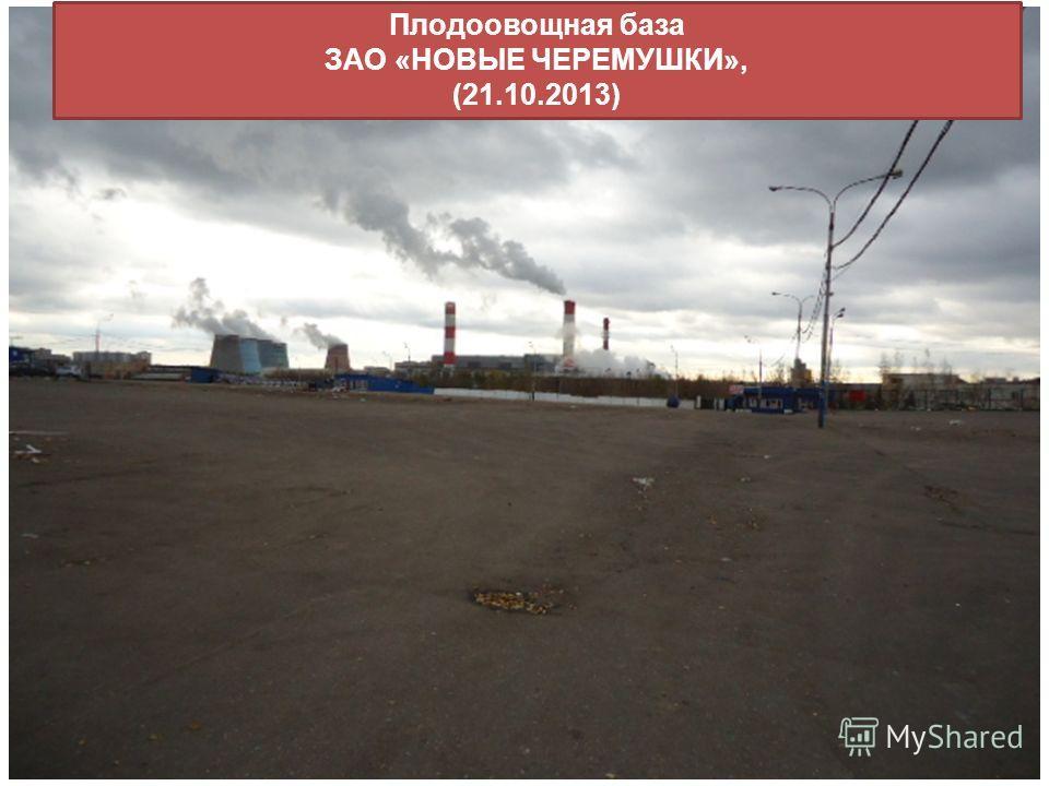 Плодоовощная база ЗАО «НОВЫЕ ЧЕРЕМУШКИ», (21.10.2013)