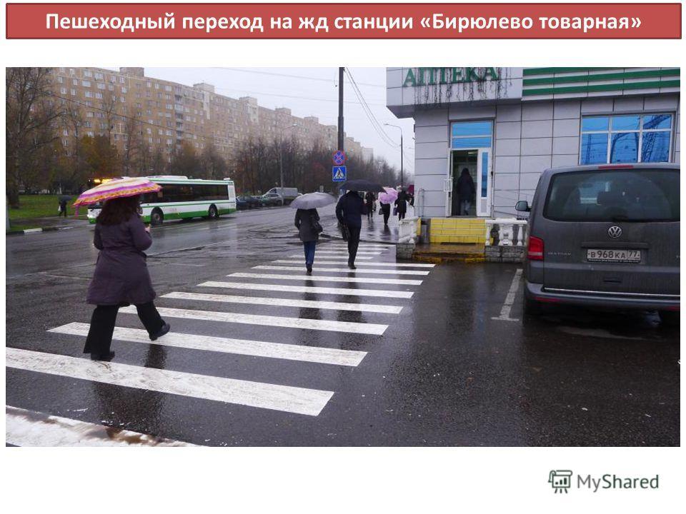 Пешеходный переход на жд станции «Бирюлево товарная»