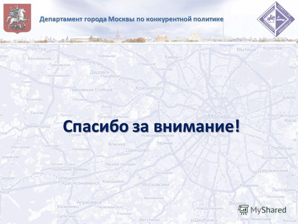 Департамент города Москвы по конкурентной политике Спасибо за внимание!