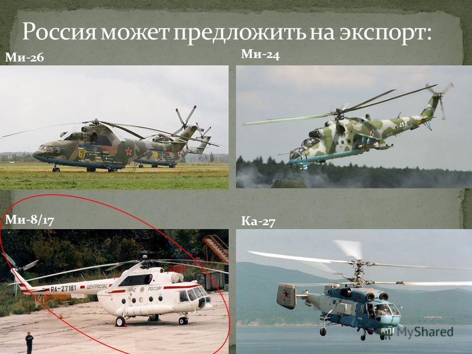 Ми-8/17 Ми-26 Ка-27 Ми-24