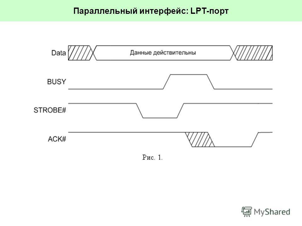 Параллельный интерфейс: LPT-порт