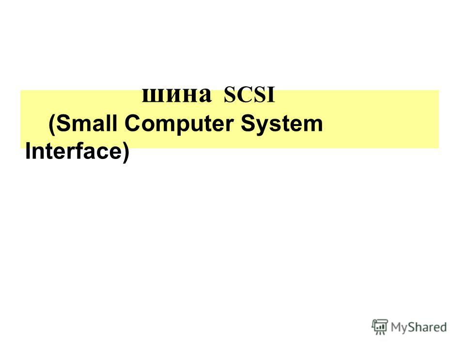 шина SCSI (Small Computer System Interface)