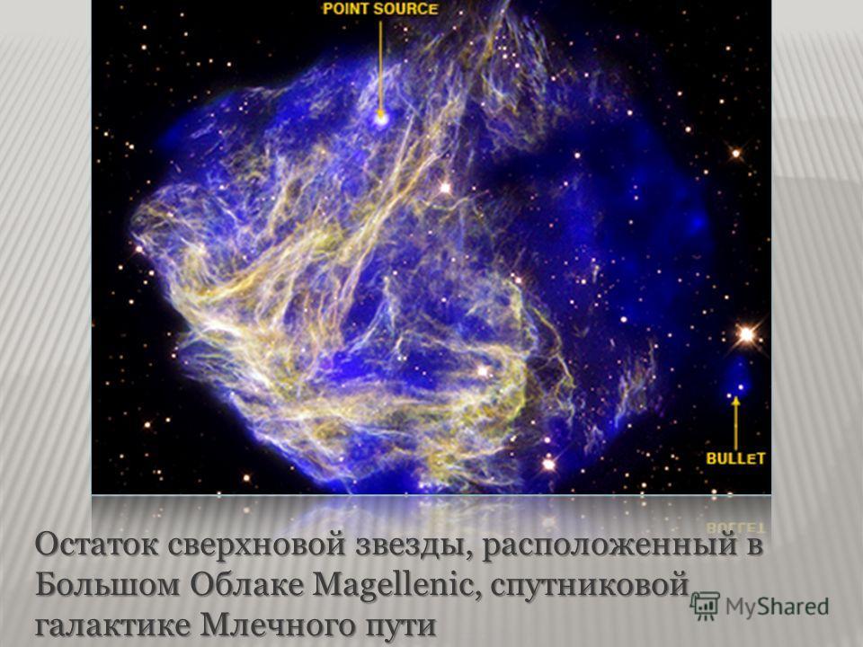 Остаток сверхновой звезды, расположенный в Большом Облаке Magellenic, спутниковой галактике Млечного пути