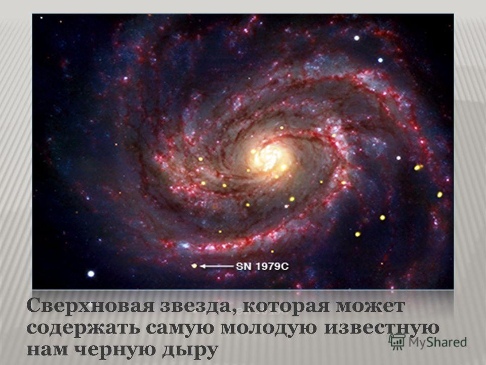 Сверхновая звезда, которая может содержать самую молодую известную нам черную дыру