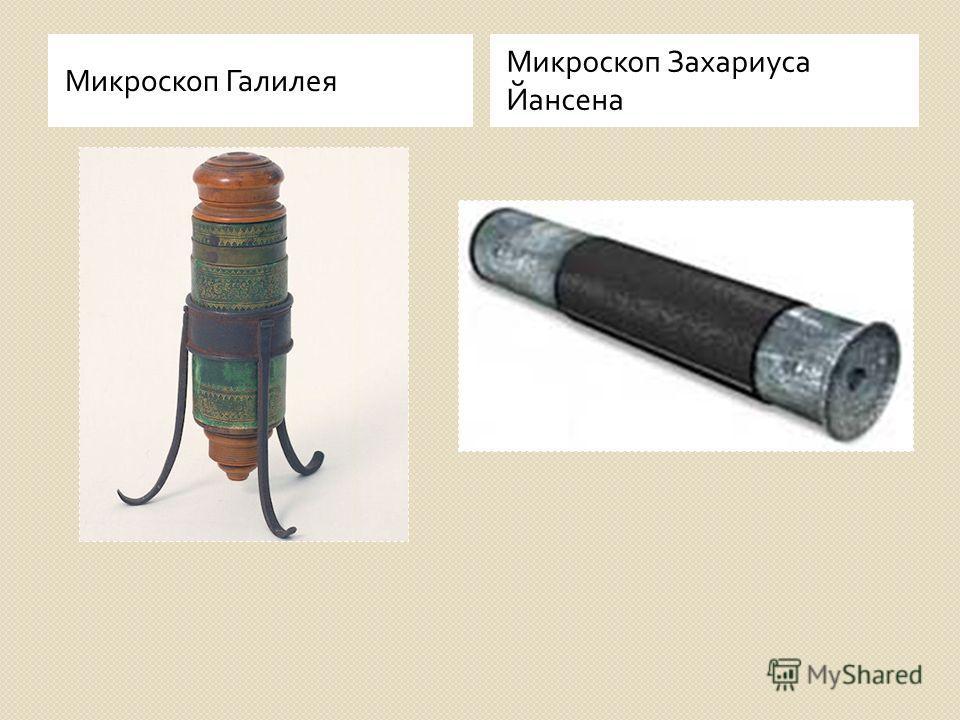 Микроскоп Галилея Микроскоп Захариуса Йансена