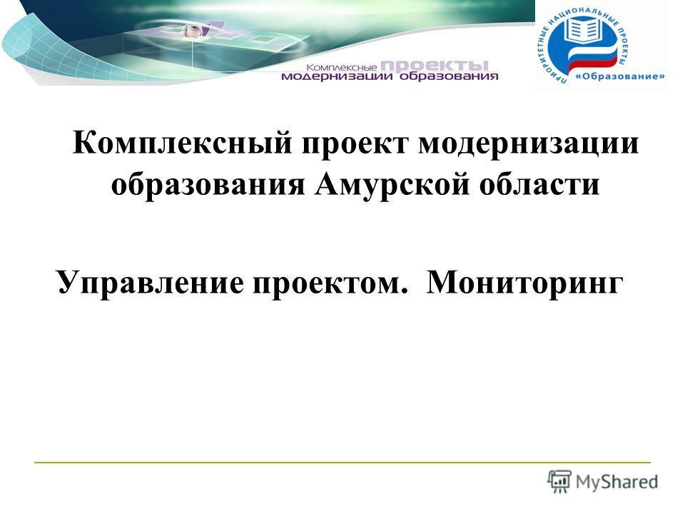 Комплексный проект модернизации образования Амурской области Управление проектом. Мониторинг