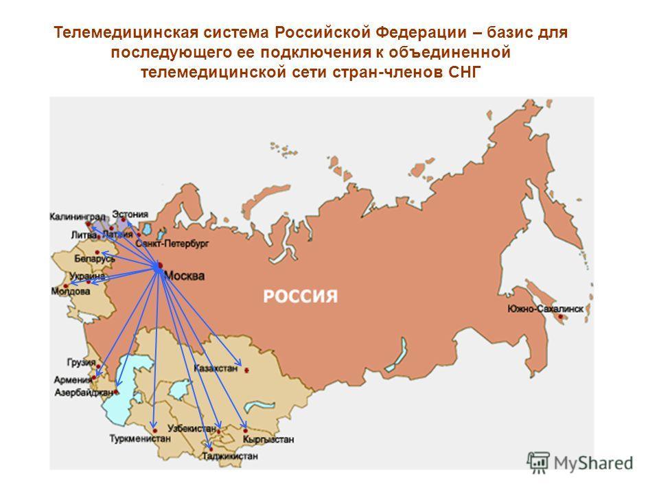 Телемедицинская система Российской Федерации – базис для последующего ее подключения к объединенной телемедицинской сети стран-членов СНГ