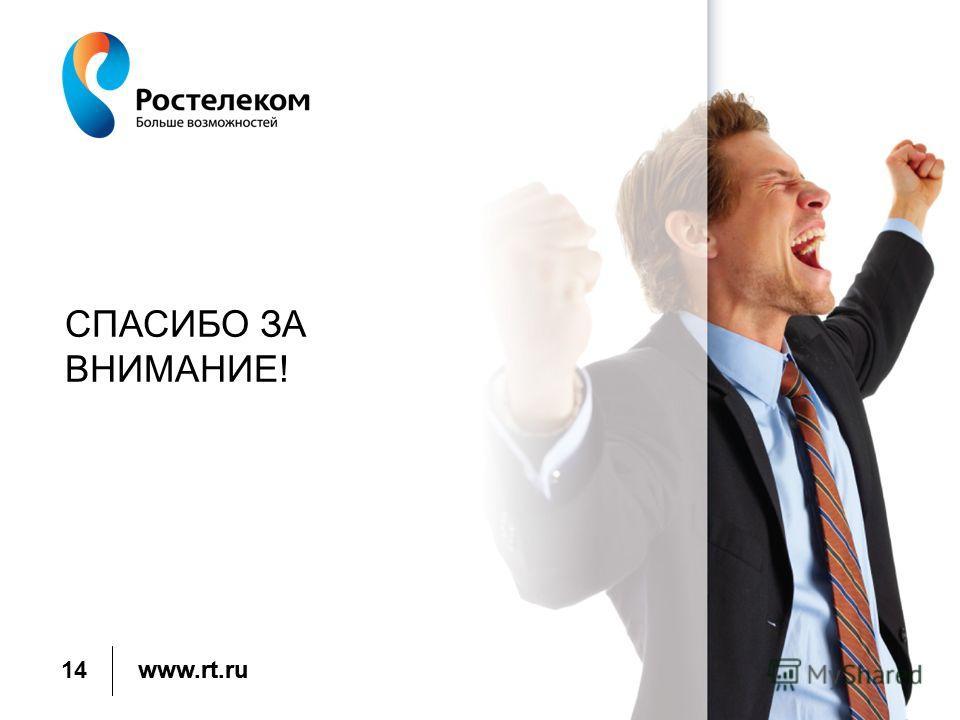 www.rt.ru СПАСИБО ЗА ВНИМАНИЕ! 14