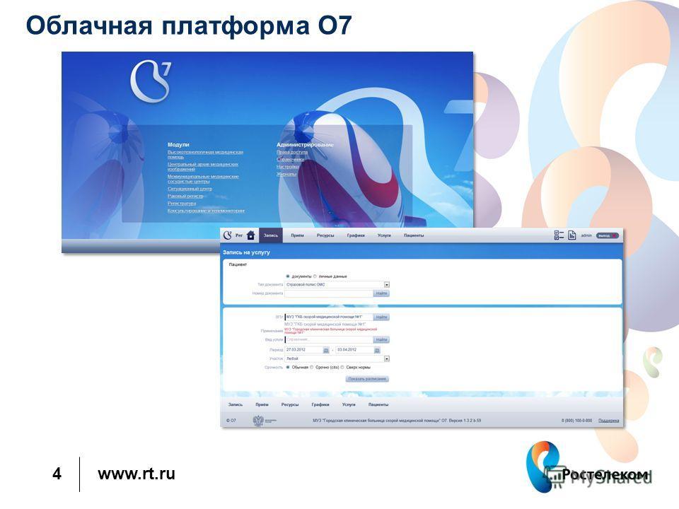 www.rt.ru 4 Облачная платформа O7