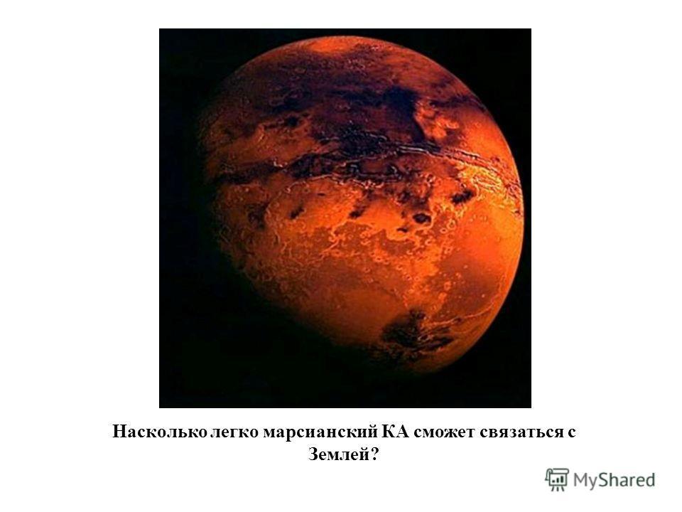 Насколько легко марсианский КА сможет связаться с Землей?