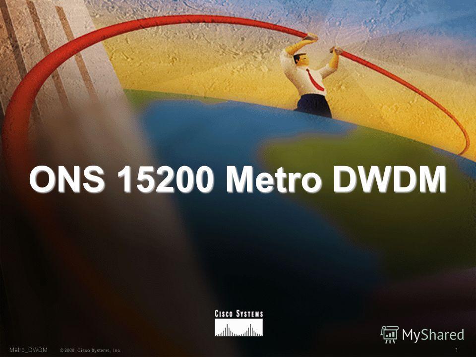 1 © 2000, Cisco Systems, Inc. Metro_DWDM ONS 15200 Metro DWDM