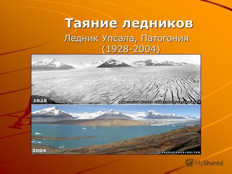 Таяние ледников Таяние ледников Ледник Упсала, Патогония (1928-2004)