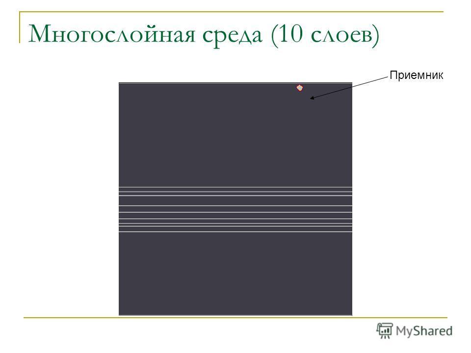Многослойная среда (10 слоев) Приемник