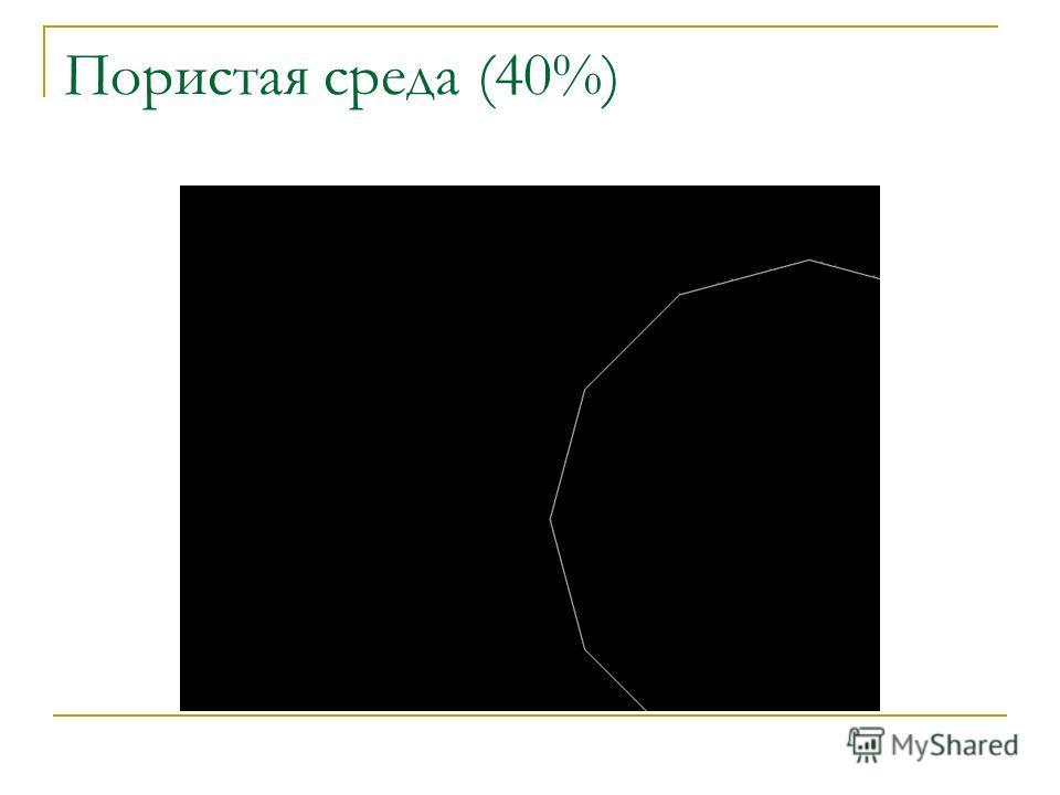 Пористая среда (40%)