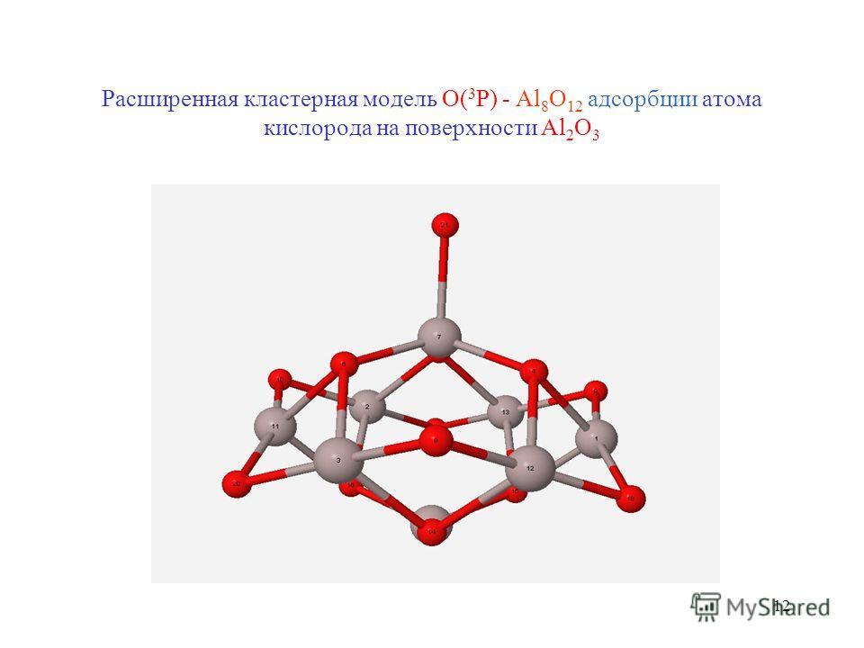 12 Расширенная кластерная модель O( 3 P) - Al 8 O 12 адсорбции атома кислорода на поверхности Al 2 O 3