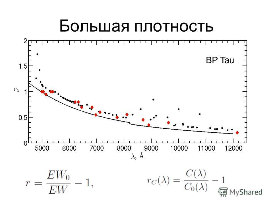 Большая плотность BP Tau