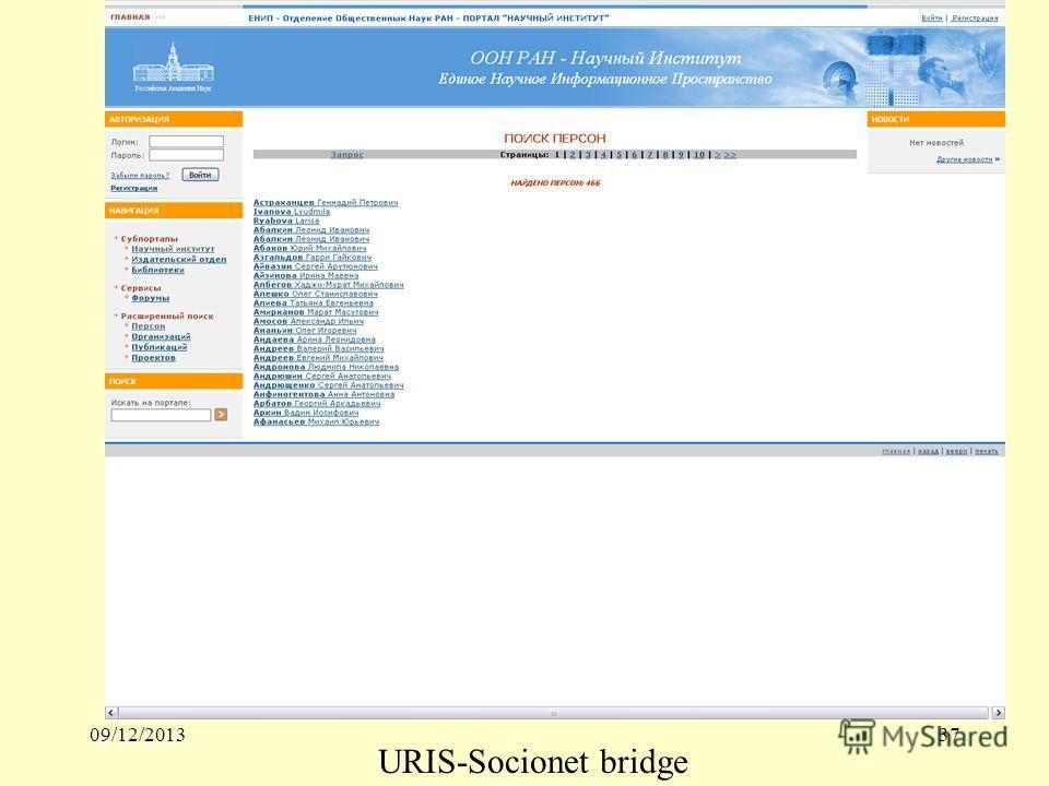 09/12/201337 URIS-Socionet bridge