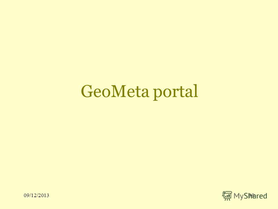 09/12/201339 GeoMeta portal