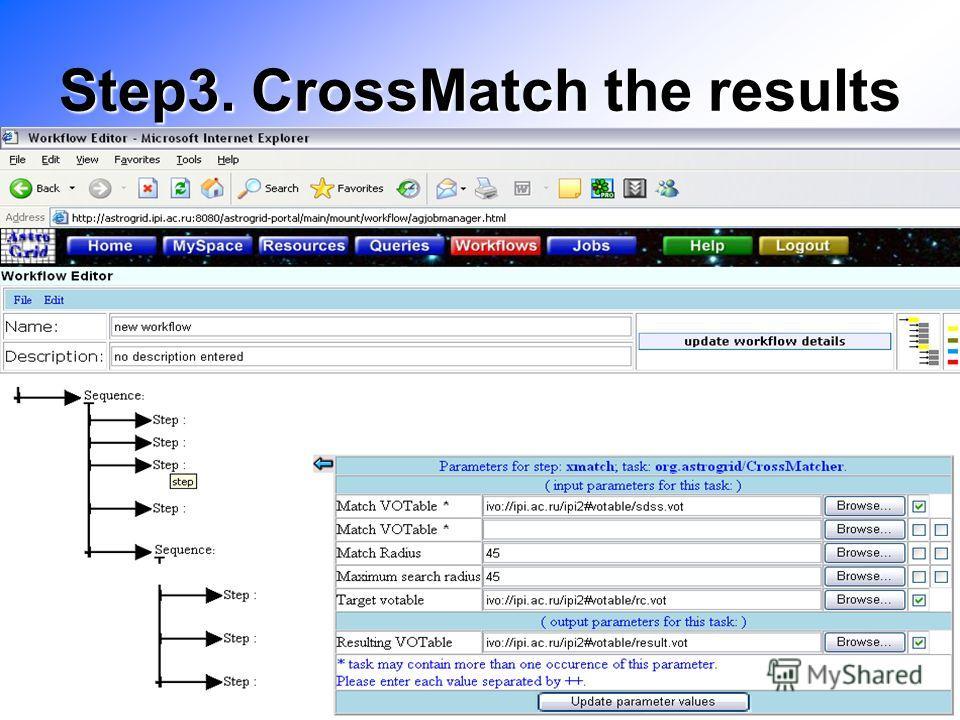 Step3. CrossMatch the results
