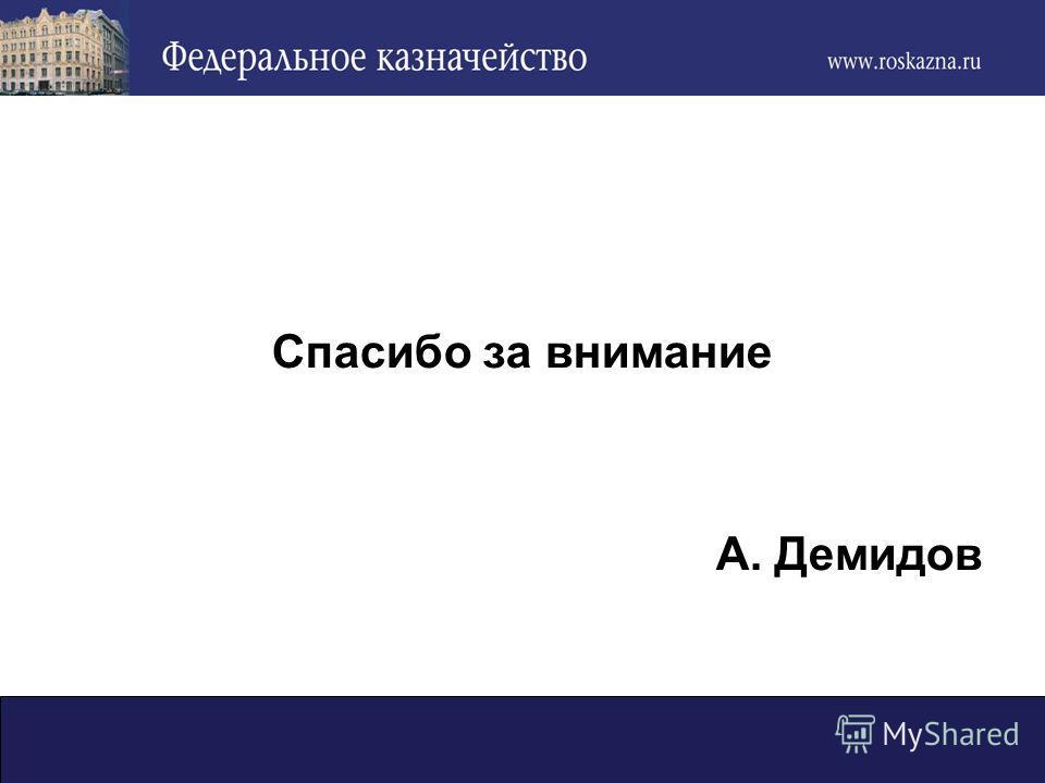 Спасибо за внимание А. Демидов