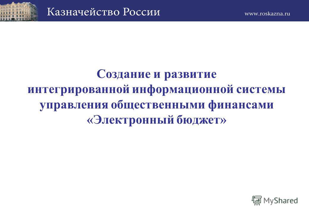 Создание и развитие интегрированной информационной системы управления общественными финансами «Электронный бюджет»