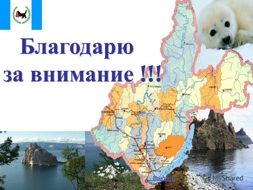 Иркутск Благодарю за внимание !!! за внимание !!!