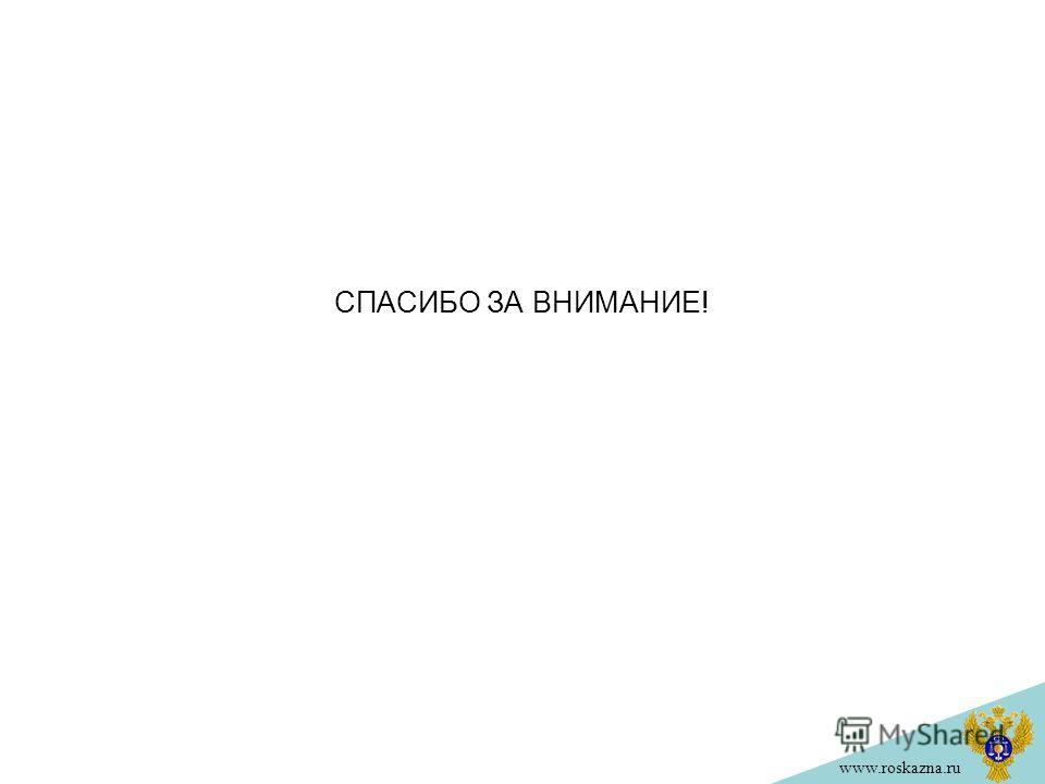 www.roskazna.ru СПАСИБО ЗА ВНИМАНИЕ!