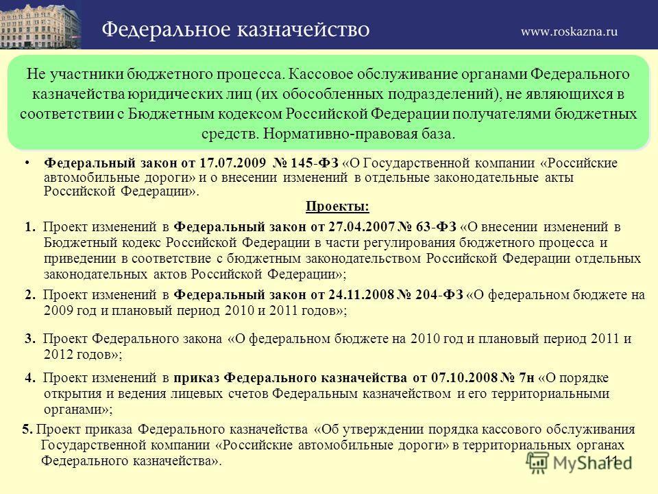 11 Не участники бюджетного процесса. Кассовое обслуживание органами Федерального казначейства юридических лиц (их обособленных подразделений), не являющихся в соответствии с Бюджетным кодексом Российской Федерации получателями бюджетных средств. Норм