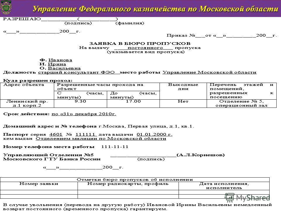 Управление Федерального казначейства по Московской области