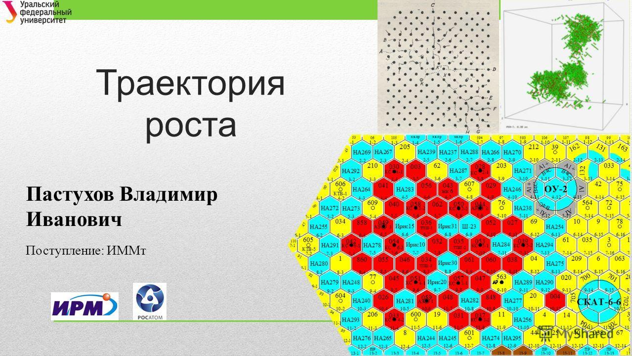Траектория роста Пастухов Владимир Иванович Поступление: ИММт