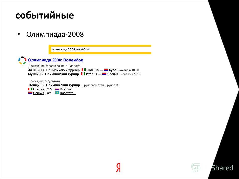 событийные Олимпиада-2008