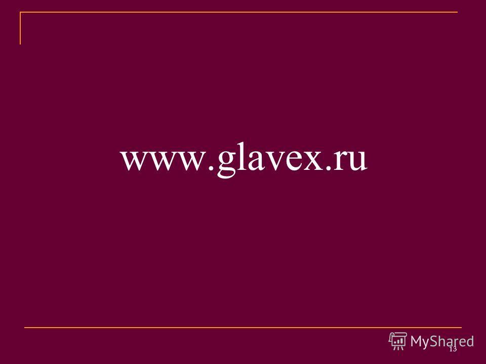 www.glavex.ru 13