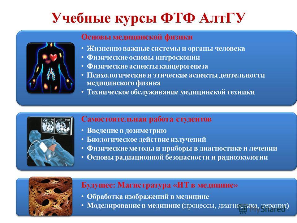 Учебные курсы ФТФ АлтГУ
