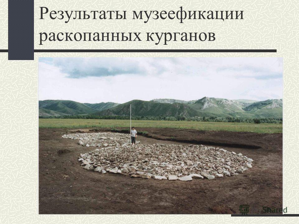 Результаты музеефикации раскопанных курганов