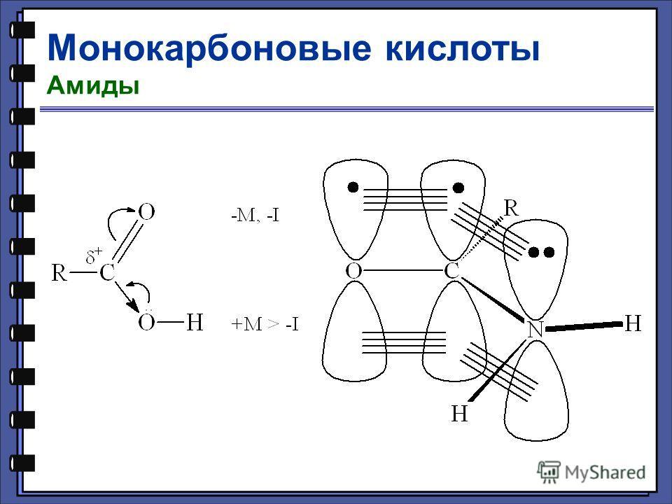 Монокарбоновые кислоты Амиды