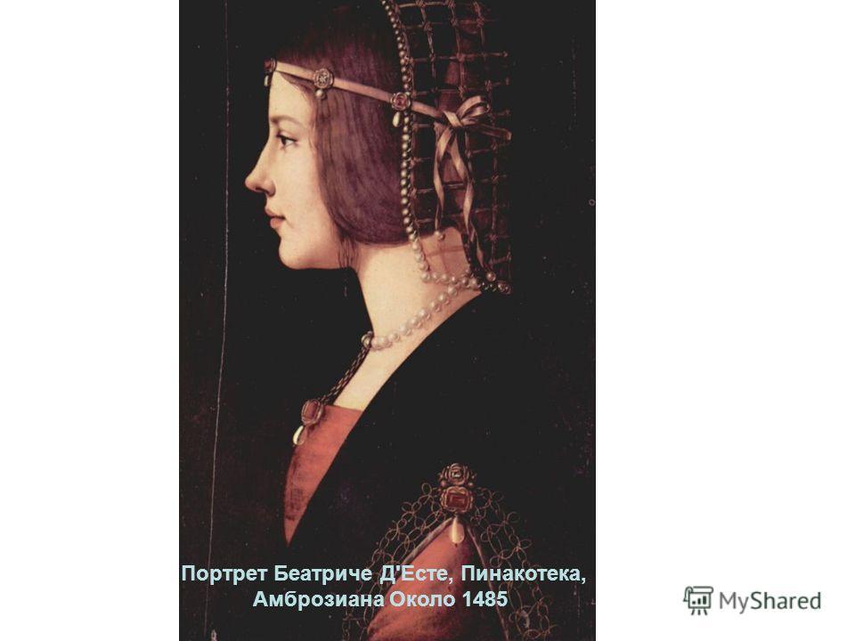 Портрет Беатриче Д'Есте, Пинакотека, Амброзиана Около 1485