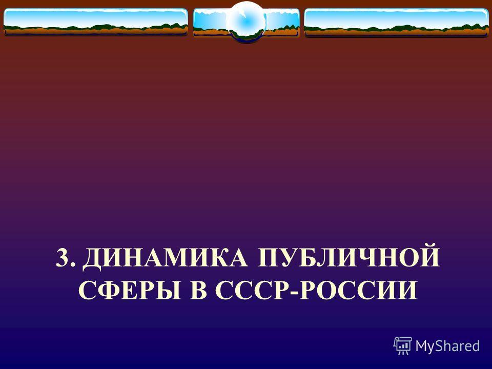 3. ДИНАМИКА ПУБЛИЧНОЙ СФЕРЫ В СССР-РОССИИ
