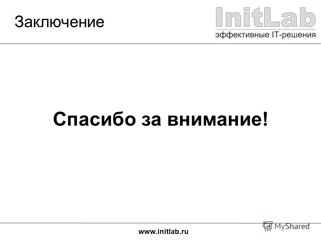 www.initlab.ru Заключение Спасибо за внимание!