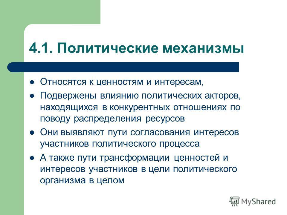 4. Комплексный подход Предполагает, что принятие политических решений является итогом взаимодействия 4.1. Политических и 4.2. Информационно- аналитических механизмов