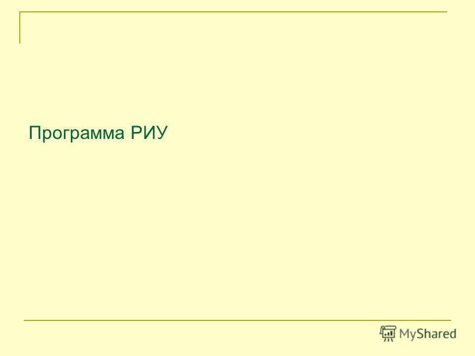 Программа РИУ