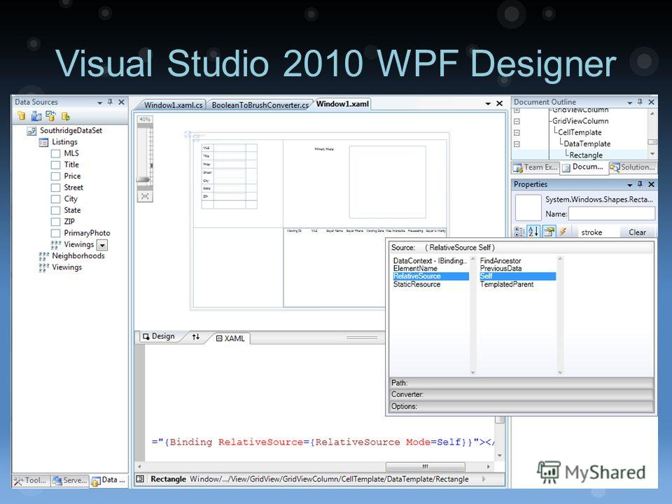 Visual Studio 2010 WPF Designer