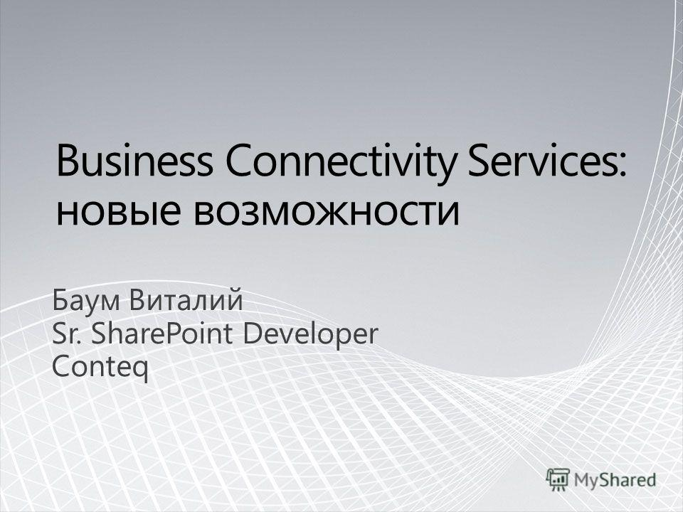 Баум Виталий Sr. SharePoint Developer Conteq
