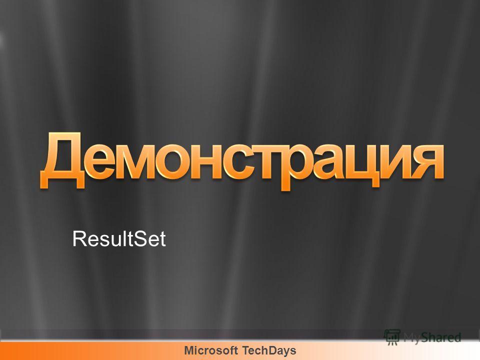 Microsoft TechDays ResultSet