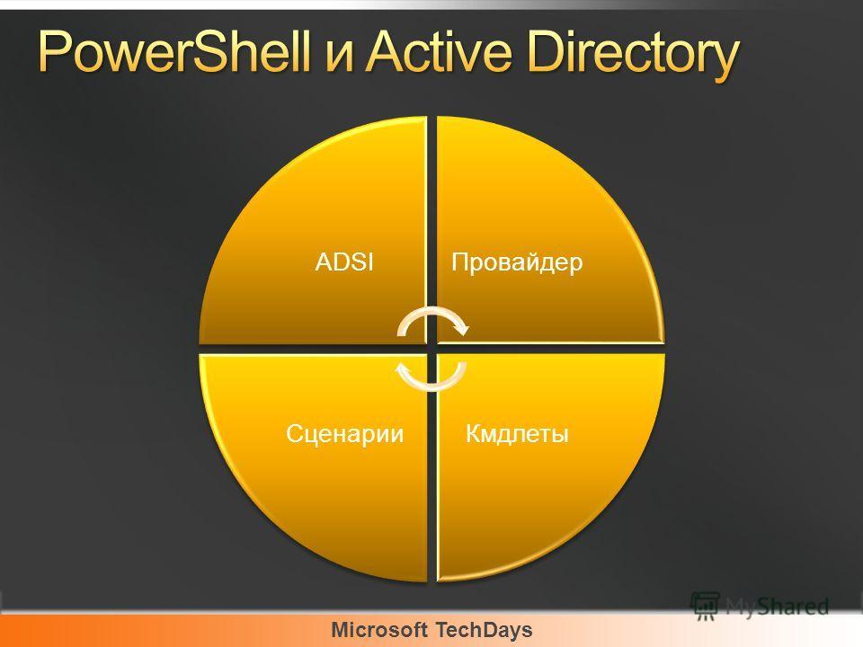 Microsoft TechDays ADSIПровайдер КмдлетыСценарии