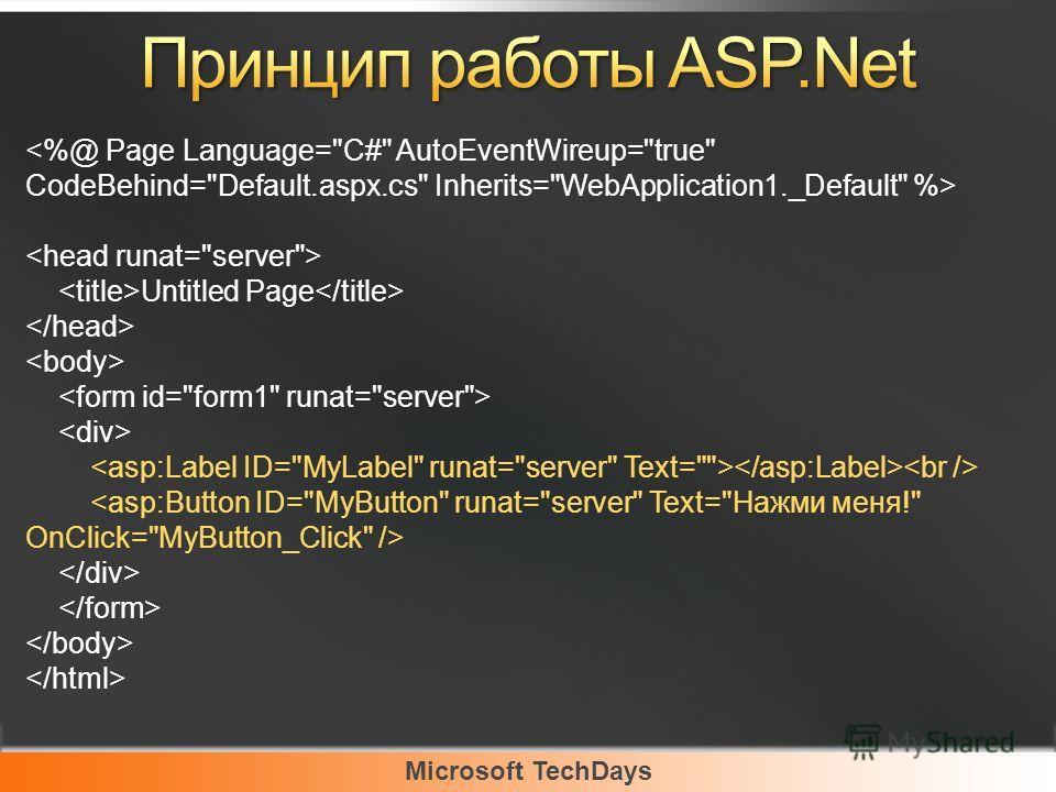 Microsoft TechDays Untitled Page