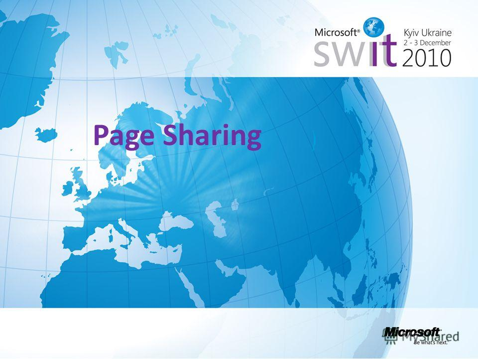 Page Sharing