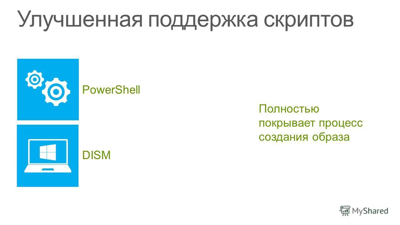 PowerShell Полностью покрывает процесс создания образа DISM