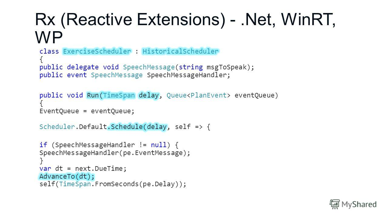 Rx (Reactive Extensions) -.Net, WinRT, WP